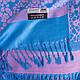 Шикарный женский двусторонний палантин из пашмины 160 на 70 см ETERNO ES2707-12-1 голубой, фото 2