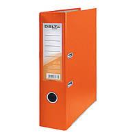 Регистратор 7,5 см., А4 односторонняя, оранжевый. Delta by Axent