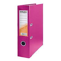 Регистратор 7,5 см., А4 односторонняя, розовый. Delta by Axent