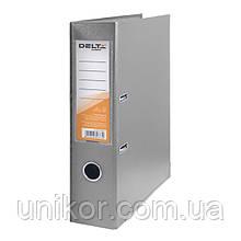 Регистратор 7,5 см., А4 односторонняя, серый. Delta by Axent