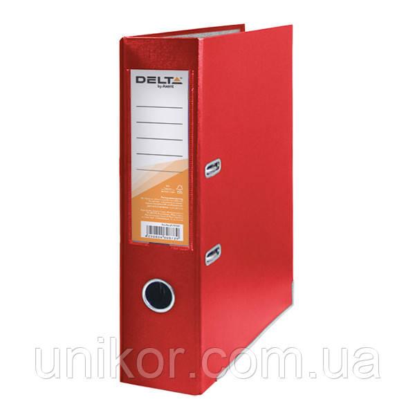 Регистратор 7,5 см., А4 односторонняя, красный. Delta by Axent