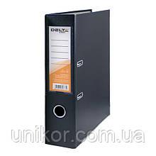 Регистратор 7,5 см., А4 односторонняя, черный. Delta by Axent