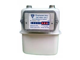 Газовый счетчик Октава G4 мембранный, корпус из стали, максимальный расход 6 куб. м/час, вес 1,9 кг