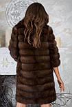 """Шуба полушубок из куницы """"Аделина"""" marten fur coat jacket, фото 3"""