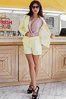 Костюм шорты и пиджак желтый