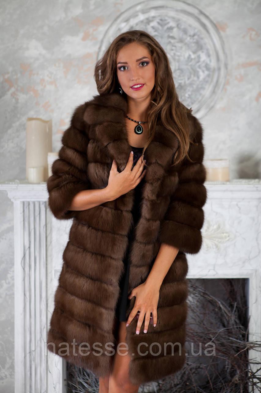 "Шуба полушубок из куницы ""Аделина"" marten fur coat jacket"