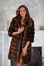 """Шуба кожушок з куниці """"Аделіна"""" marten fur coat jacket"""
