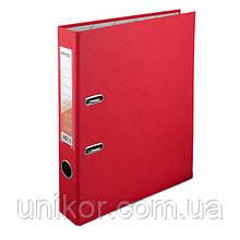 Реєстратор 5 см, односторонній А4, червоний. Delta by Axent