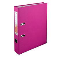 Регистратор 5 см., А4 односторонняя, розовый. Delta by Axent