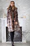 "Шуба из чернобурки ""Камилла"" silver fox fur coat jacket vest gilet, фото 2"