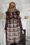 "Шуба из чернобурки ""Камилла"" silver fox fur coat jacket vest gilet, фото 4"