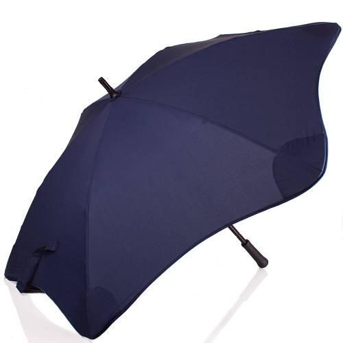 Мужской механический  противоштормовой зонт-трость BLUNT (БЛАНТ) Bl-mini-navy синий