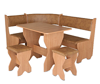 Кухонный уголок Мальта комплект (стол КС1+диван+2 табурета Т1)