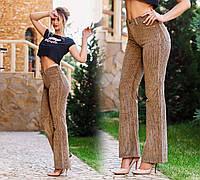 """Стильные женские брюки 3296 """"Вельвет Клёш"""""""
