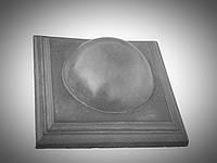 Крышки на столбы забора из камня «КУЛЯ ВЕЛИКА» 450х450 мм. цвет серый, вес 37 кг.