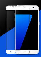 Защитное стекло 2.5D CP+ на весь экран (цветное) для Samsung G930F Galaxy S7             Белый