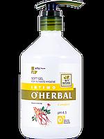 Нежный гель для интимной гигиены Comfort с экстрактом женьшеня 500 мл O'Herbal