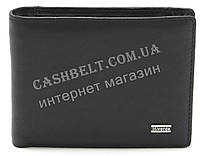 Мужской кожаный стильный кошелек H.Verde art. 8400N черного цвета