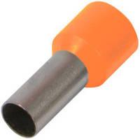 Наконечник-гильза с изолированным фланцем НГ 4,0 - 12mm  оранжевый  (типа Е4012) (100шт./уп) 4мм2