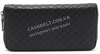 Женский кошелек барсетка черного цвета в ромбик  FUERDANI art.8699-2