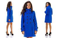Женское пальто с высоким воротом 6 цветов