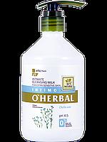 Нежный гель для интимной гигиены Delicate для чувствительной кожи с экстрактом льна 500 мл O'Herbal