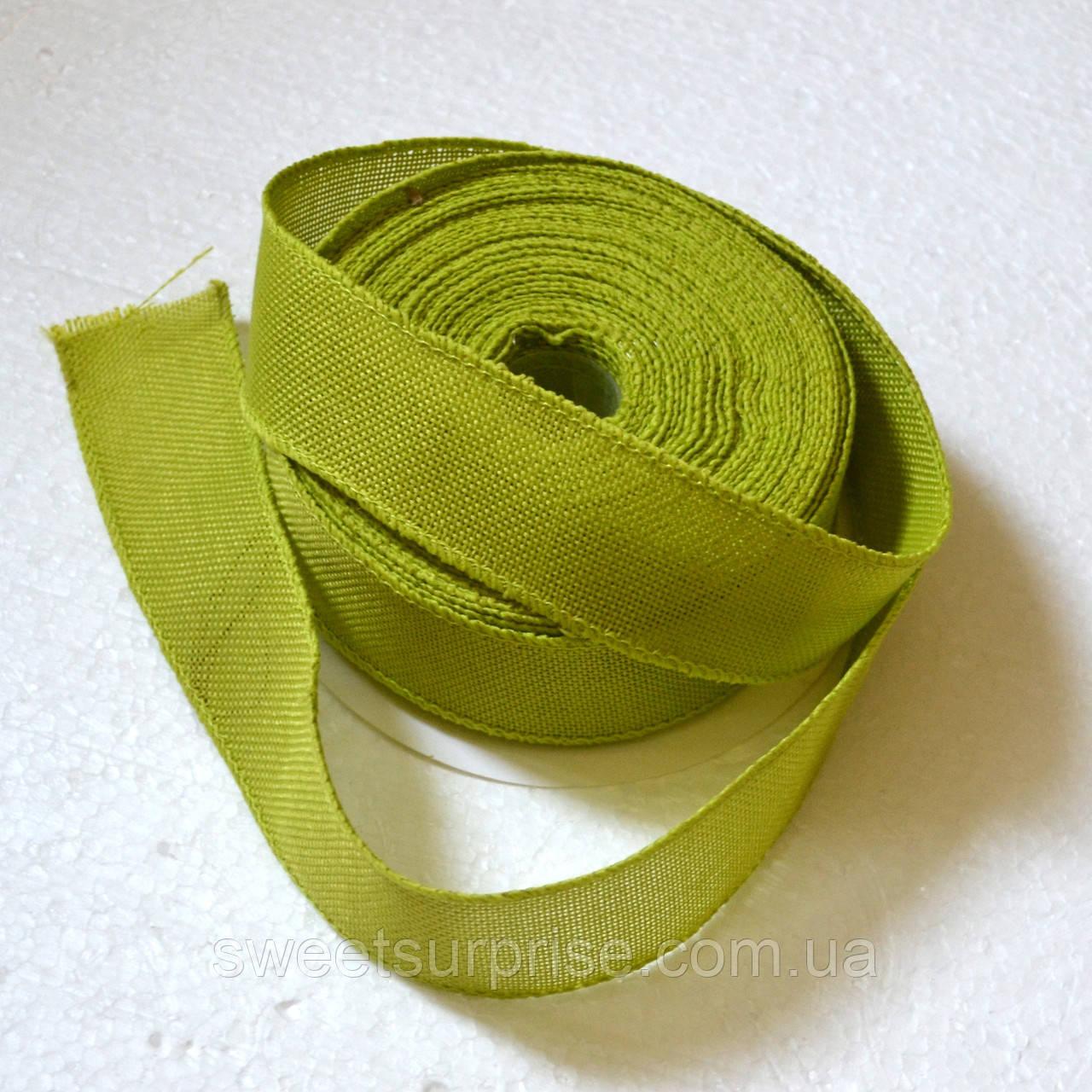 Лента декоративная 40 мм (оливковый)