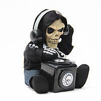 Кукла диджей-скелет,повторяющий и миксующий