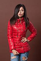 Женская молодежная демисезонная куртка. Код модели К-75-12-17. Цвет красный.