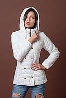 Женская молодежная демисезонная куртка. Код модели К-75-12-17. Цвет белый.