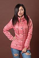 Женская молодежная демисезонная куртка. Код модели К-75-12-17. Цвет пудровый.