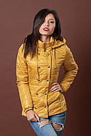 Женская молодежная демисезонная куртка. Код модели К-75-12-17. Цвет горчица.
