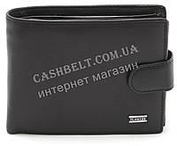 Мужское кожаное прочное стильное портмоне бумажник с отделением для документов H.Verde art. 8175N черного цвет