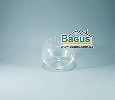 Ваза шар аквариум (высота 9,5см, диаметр 12см, объем 0,65л) (X017)