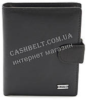 Мужское кожаное прочное стильное портмоне бумажник H.Verde art. 8492BN черного цвета