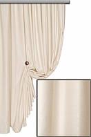 Ткань для штор софт   (велюр) №40 H молочный ,  Турция,  высота  2.8 м