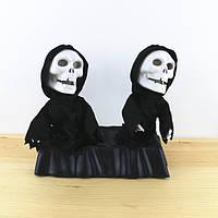 """Игрушка """"Танцующие Скелеты"""" - Игрушка череп - декор для хэллоуина"""