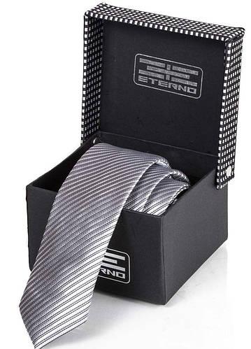 Популярный мужской шелковый галстук ETERNO (ЭТЕРНО) ETEG675 серый