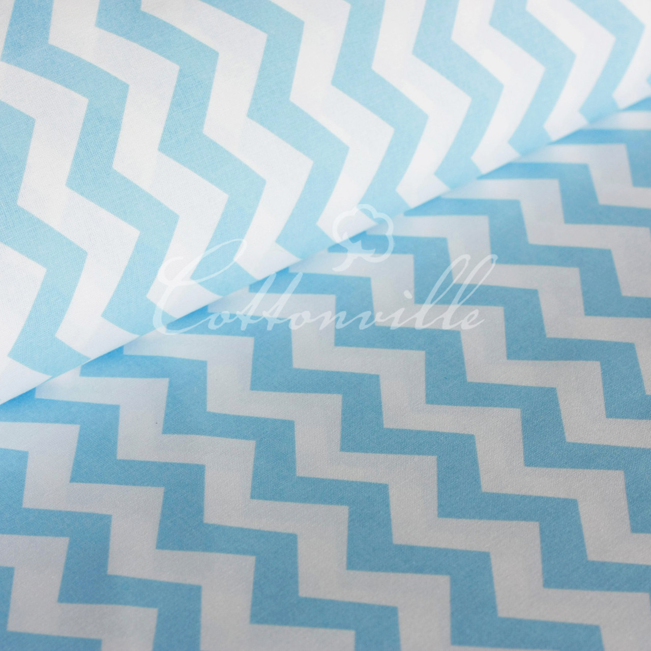 ✁ Отрезы ткани Голубые зигзаги