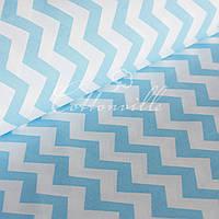 ✁ Отрезы ткани Голубые зигзаги, фото 1