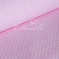 ✁ Відрізи тканини Горошки 4 мм на рожевому, фото 1