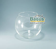Ваза шар аквариум (высота 16см, диаметр 19см, объем 3л) (X005)