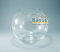 Ваза шар аквариум (высота 19см, диаметр 22см, объем 5,3л) (X006)