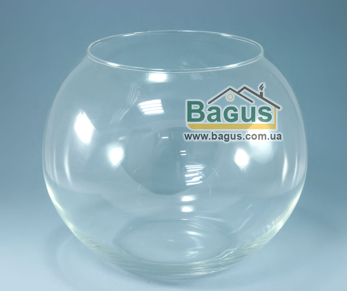 Ваза шар аквариум (высота 19,5см, диаметр 23см, объем 6,6л) (X001)