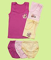 Комплект белья для девочки однотонный цветной