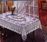 Кухонная скатерть ажурный винил