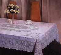 Кухонная скатерть ажурный винил абстракция
