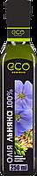 Масло льняное холодный отжым, EcoOlio, 250мл