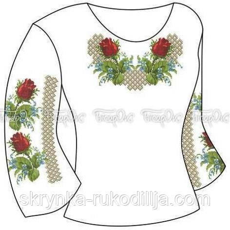 Заготовка для вишивки бісером нитками дитячої сорочки - СКРИНЬКА. Товари  для вишивки бісером та 954d276a4e564