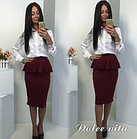 """Модная, нарядная юбка карандаш """"Баска"""" РАЗНЫЕ ЦВЕТА"""